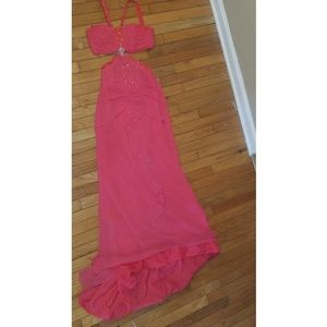 Mary's bridal Coral prom dress